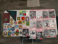 ^LOT OF BOY SCOUT PATCHES & BOOKS