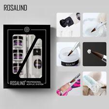 Arte en Uñas Acrílico Polvo Gel Talla Pluma Extensión de Uñas Conjunto de Herramientas Kits de manicura