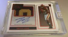 2019 Panini One Bryce Love Red Premium Rookie Patch Auto RC #'ed 09/15
