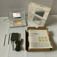 Nintendo DS lite Console White Handheld System Box Manual Stylus pen Japan