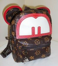 LOGO Designer & Disney Inspired BACKPACK Silver Mickey Mouse CHARMS Purse BAG R2