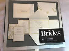 Brides 30 Count Printable Invitation Kit Ivory Flourish No Reply Cards Invites