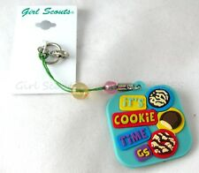 ZIPPER PULL or HAIR TIE, MOC COOKIE TIME NEW Girl Scout Leader CHRISTMAS GIFT