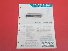 Sony TA-AX44 Amplifier Verstärker org. Service Anleitung Manual