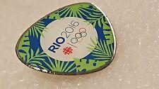 Rio 2016 Olympics Canadian Broadcasting CBC Media PIN Badge Rainforest theme