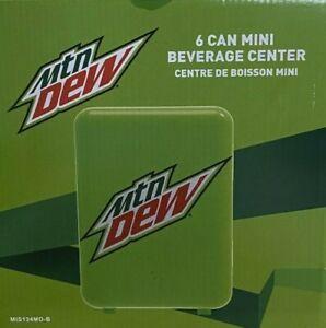 New! Mountain Dew 6-can Mini Fridge MIS134MD, Green