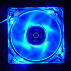 4 Pin 120mm PC Computer Clear Case Quad 4-LED Light 9-Blade CPU Cooling Fan New
