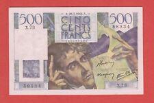 ( Ref: X.73.E) 500 FRANCS CHATEAUBRIAND 28/03/1946 (NEUF-) ETAT RARE