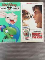 Walt Disney Cartoon Classics Volume 8 Animals Two By Two VHS / Honey Shrunk Kids