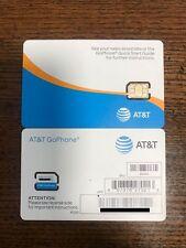 New Att Go Phone Nano Sim Card Prepaid Service Fits All Phones Adopters Inclu