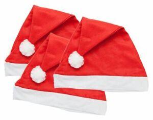 1-100pc Adult Felt Red Santa Hat Wholesale Job Lot Christmas Party Fancy Dress