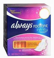 Always Radiant Infinity Pads with Flexi-Wings, Fresh Scent, Overnight 12 ea /2pk