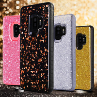 For Samsung Galaxy S9/S9+ Plus Hybrid Glitter Bling Rubber Hard Phone Case Cover