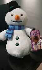 Disney Store CHILLY Doc McStuffins 8' Soft Toy Snowman NEW BNWT
