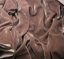 "Silk VELVET Fabric MAUVE 9""x22"" remnant"