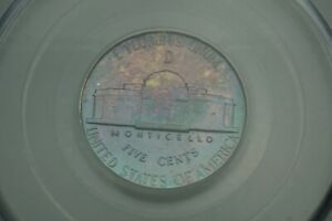 Rainbow Toned -- 1943-D 5c PCGS MS65FS Jefferson Nickel War Silver #RT14
