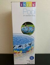 Intex Snapset Kid Kiddie Outside Swimming Pool 8ft x 18in Orcas - Ships Asap