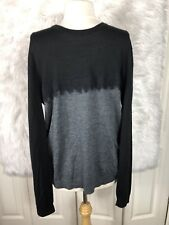 Ted Baker London Mens Crew Neck Wool Sweater Size 6 Black Gray