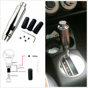 Silver Aluminum Universal Car AT Automatic Gear Stick Shift Knob Shifter Lever