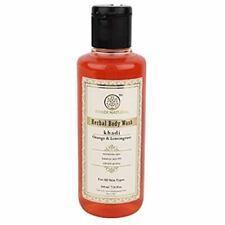 Khadi Natural Orange and Lemongrass Herbal Body Wash (2 X 210ml) Free Shipping