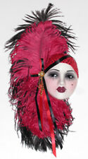 Unique Creations Lady Face Mask Wall Hanging Decor - Red /Black