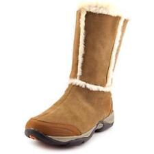 Botas de mujer de nieve de tacón medio (2,5-7,5 cm) de ante