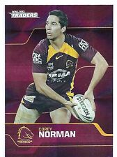 2013 NRL Traders Base Card 8 Corey NORMAN Brisbane Broncos