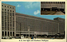Chicago Illinois USA Color AK ~1960/70 US Post Office an Eisenhower Underpass