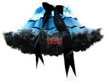 Girls Blue Black Striped Dance Party Pettiskirt Tutu S