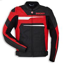 Ducati Lederjacke Speed Evo C1 rot/weiß/schwarz Größe 50
