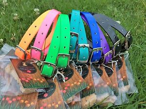 Handmade PVC Dog Collar - 19mm wide - 15 colours!!!  BULK LOT OF 5