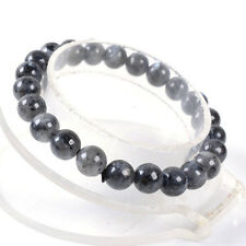 8mm Fashion Larvikite round gemstone Labradorite beads stretchable bracelet 7.5""