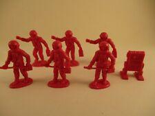 Lot 7 Marx Pink Figures Space Men Astronauts Robot Tom Corbett Rex Mars