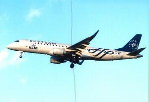 CIVIL AIRCRAFT PHOTO SKYTEAM KLM PHOTOGRAPH PH-EZX PLANE PICTURE EMBRAER 190D.