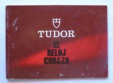 """- 9421 9420 9430/0 76100 9440/0 vintage Tudor Booklet """"El Reloj Coraza"""" 9450/0"""