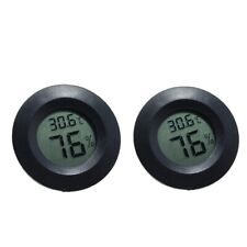 2x Indoor Room Thermometer Humidity Hygrometer For Reptile Turtle Frogs Tank
