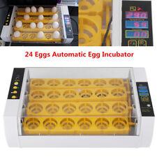 24 Eggs Automatic Incubator Turbine Fan Chicken Poultry Hatcher W/ Alarm Us Plug