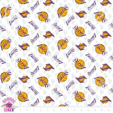 NBA Los Angeles LA Lakers 100% Cotton Fabric by the Yard