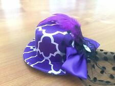 "Purple Opening Day ""Mini"" Top Hat Birthday  Dress Church Wedding Tea Party Props"