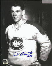 MONTREAL CANADIENS ANDRE PRONOVOST SIGNED 8X10 PHOTO WITH CLASSIC AUTHENTIC COA
