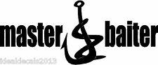 Master Baiter Fish Sticker Decal for Fishermen In Color Black