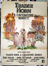 manifesto 2F film TRADER HORN Rod Taylor Anne Heywood Jean Sorel 1973