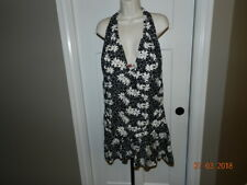FASHION BUG WOMENS PLUS One Piece Swimsuit 26 Black floral White