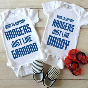 Rangers Football Daddy or Grandad Baby Grow Vest Top