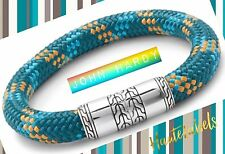 """JOHN HARDY NWT Retail $295. SILVER 925 Vibrant Cord Blues & Tan Bracelet 8.75"""""""