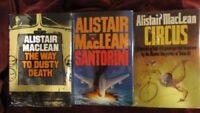 Alistair Maclean - 3 novels: SANTORIN - DUSTY - CIRCUS - 1st (2)