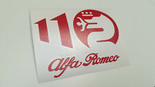 Alfa Romeo 110 YEARS   decal   QV   anniversary   ALFISTA   sticker   ALFA ROMEO