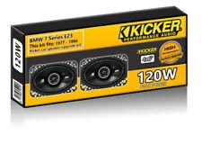 """BMW 7 Series E23 Footwell Speakers Kicker 4x6"""" car speaker upgrade 120W"""