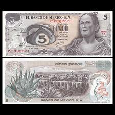 Mexico 5 Pesos, 1969, P-62a, AU-UNC