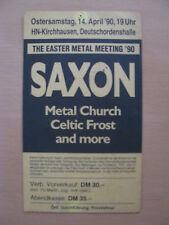 Saxon Ticket Heilbronn 14.04.1990  Metal Meeting 1990 Metal Church Celtic Frost